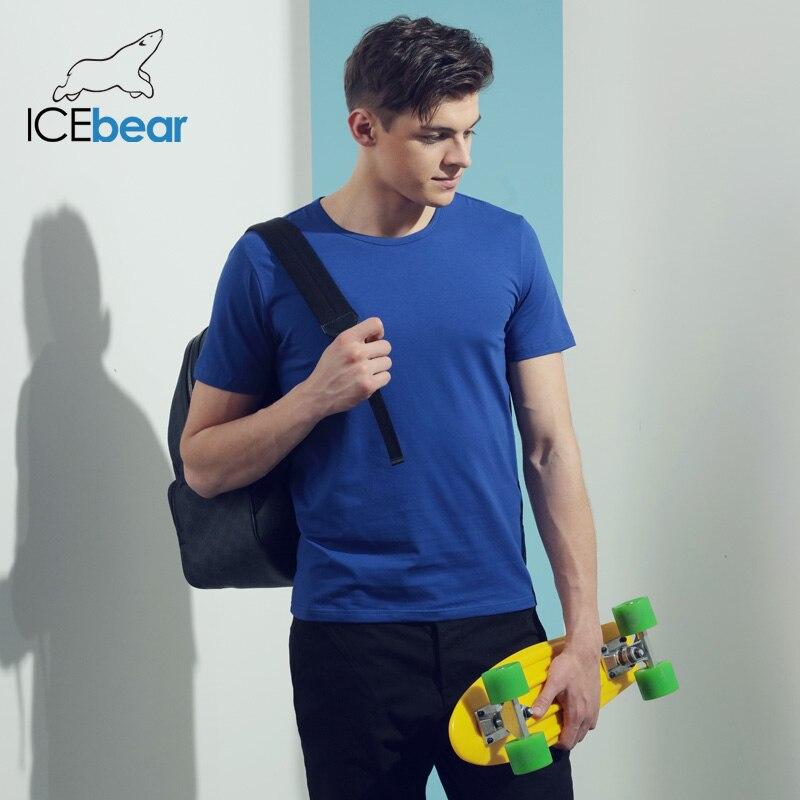 Icebear 2020 Lyocell Short-sleeved Round Neck T-shirt Custom Cultural Men's Shirt 014