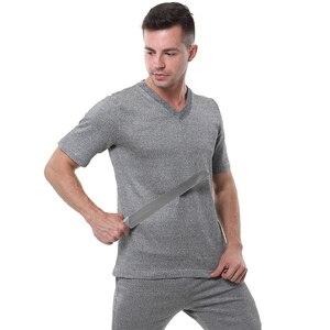 Image 3 - EN388 PE material level 4 cut proof wear slash resistant V T shirt anti cut shirt.