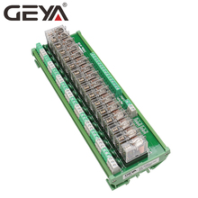 GEYA NG2R 16 Channel Relay Board 1NO 1NC Din Rail Relay Module Original Omron Relay Plug lr2 33 65a 48 65a 3 phase 1no 1nc electric thermal overload relay
