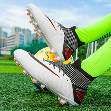 ALIUPS High Ankle Football Boots Men Women Boys Soccer Shoes TF/FG Kids Cleats Training Sport Sneakers Size 35-45