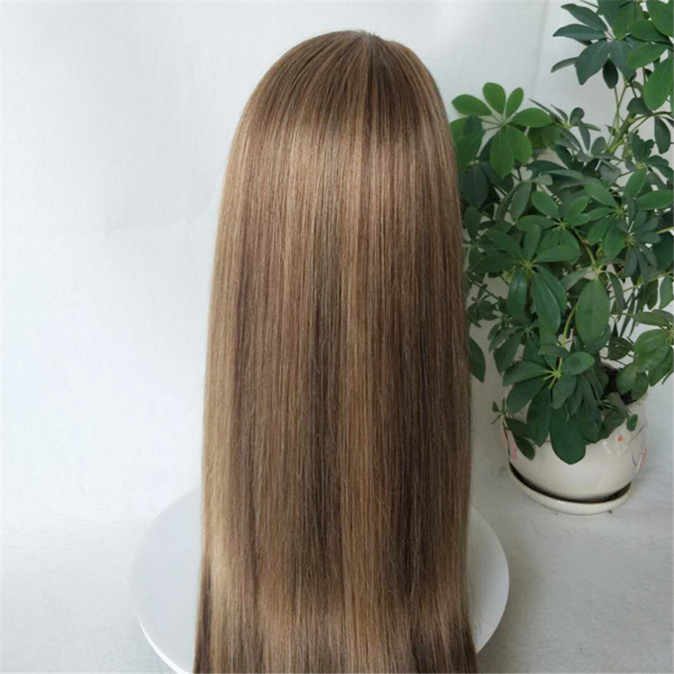 Bestsojoy Highlight Colored Headband Wig Ombre Human Hair Wigs For Black Women Glueless Full Machine Made Brazilian Scarf Wigs