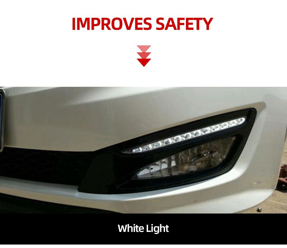 1Pair LED DRL Daytime Running Light Driving Lamp for KIA Optima K5 2011-2012