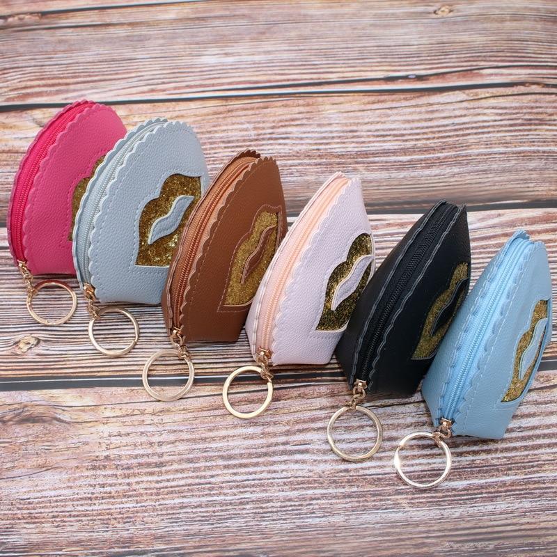 South Korea Cartoon Simple Korean-style Purse Women's Mini Coin Bag Wallet Women's Short Fabric Coin Pocket PU Leather