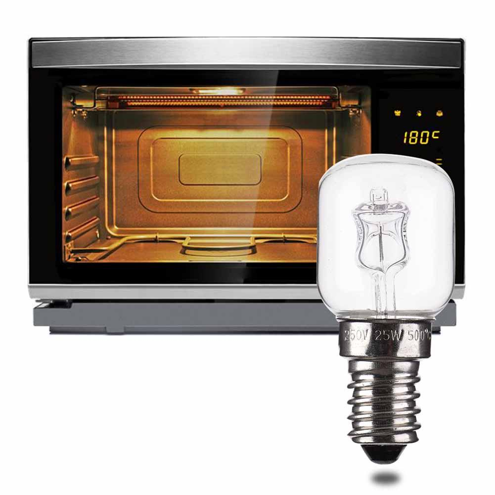 High Temperature 500 Degree 25W Warm Yellow Light Halogen Bulb E14 Screw Halogen Bulb Electric Oven Steamer Supporting Lamps