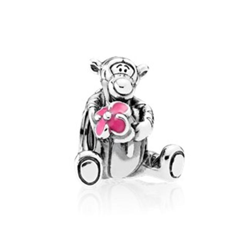 シルバーカラーの少年少女ミッキーユニコーンチャームビーズペンダントフィットパンドラブレスレット & ネックレス女性の diy 愛好家 jeweley