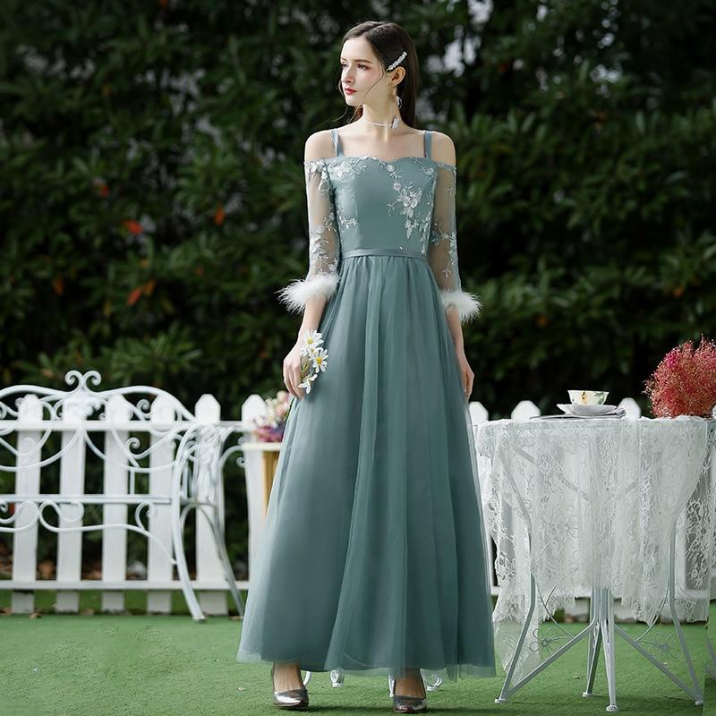 Spaghetti Straps Junior Bridesmaid Dress Elegant A-Line Sweetheart Wedding Party Dress Vestido Azul Marino Sexy Prom Dress Long