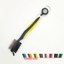 with strong Retractable Zip Line Golf Clean Brush and Club Groove Cleaner