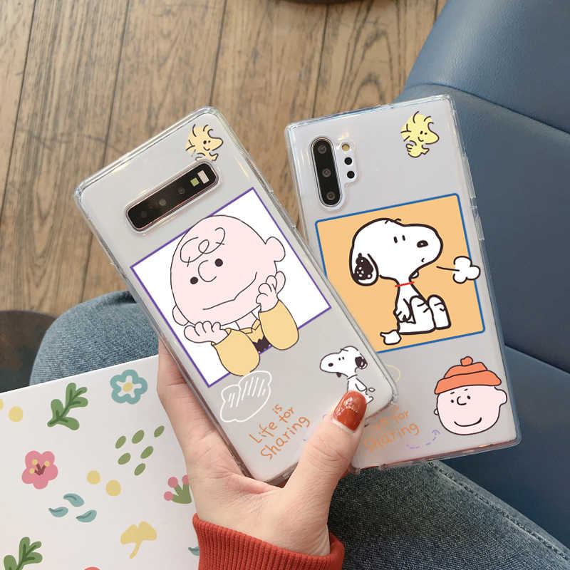 Charlie Claro Caso de Telefone dos desenhos animados para Samsung A51 A71 Nota 10 8 9 plus S10 S10E S9 S8 S7 S20 Plus A30 A50 A70 A80 A5 A8 Soft Case