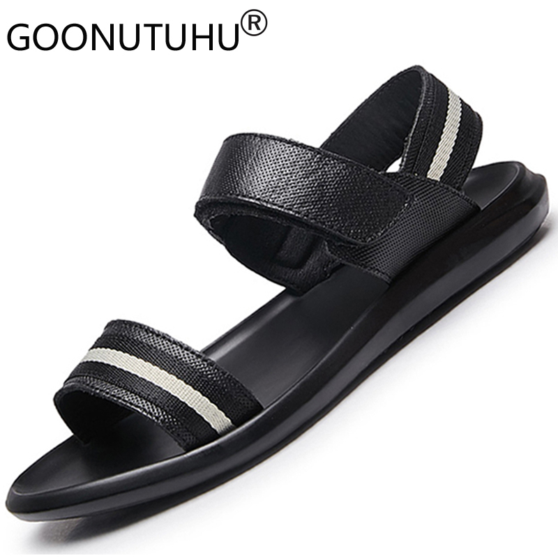 2020 New style men's sandals summer shoes genuine leather casual fashion beach sandals for men platform sandal soft outdoor male