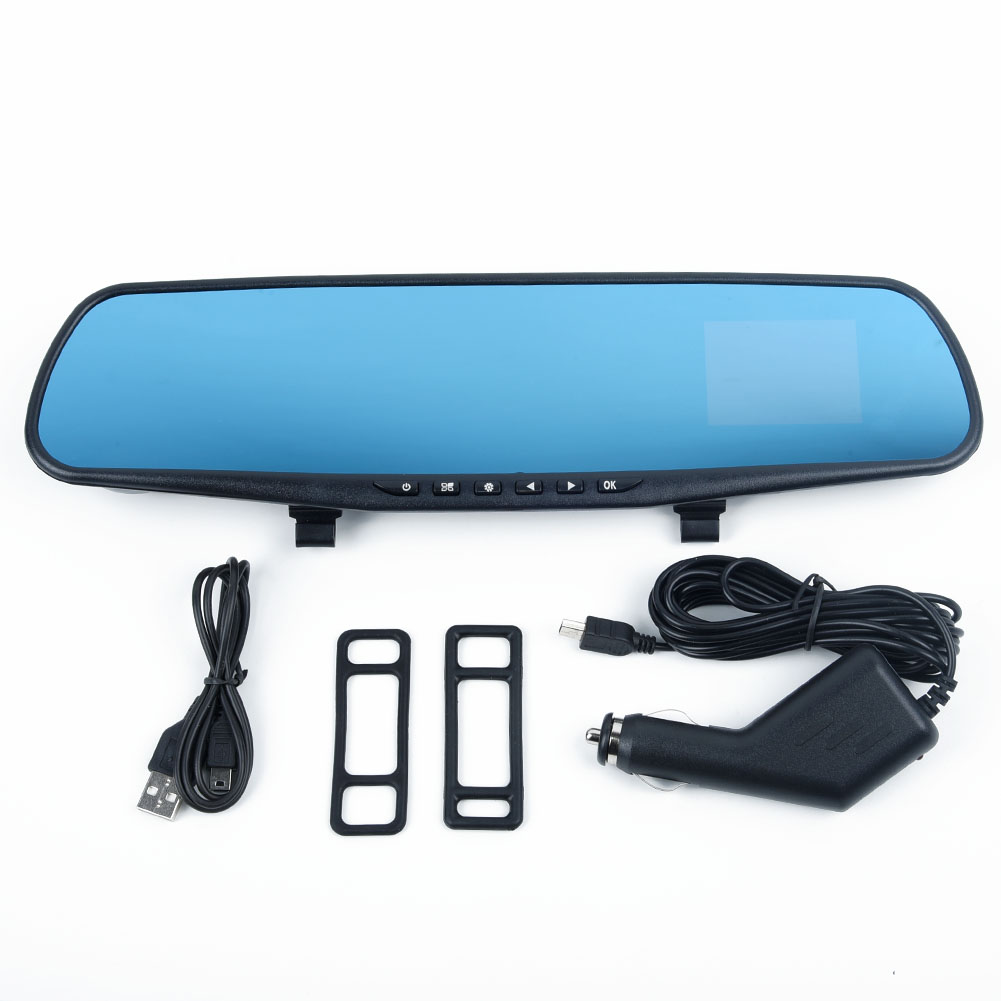 2.4 Inch HD <font><b>Car</b></font> <font><b>DVR</b></font> <font><b>Mirror</b></font> Rear View <font><b>Mirror</b></font> Camera IR Night Vision Recorder 12-24V <font><b>Car</b></font> Charger <font><b>Car</b></font> Rear View <font><b>Mirror</b></font> <font><b>DVR</b></font> image
