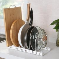 Adjustable Iron Plate Organizer Dishs Drying Rack Multi Layer Cutting Board Holder Kitchen Storage Rack For Pan Pot Lid