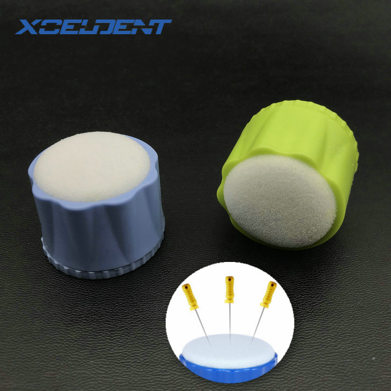 1pc Dental Equipment Round Endo Stand Cleaning Foam Sponge Files Drills Block Holder Dentist Products