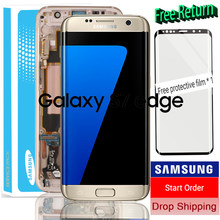 In Stock Original 5.5'' Display Super Amoled LCD + frame for SAMSUNG Galaxy s7 edge G935 G935F Touch Screen Digitizer Assembly(China)