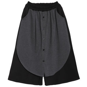 Image 5 - XITAO Street Women Pants Women Korea Fashion Patchwork High Waist Elastic Waist Pocket Elegant Wide Leg Pants 2019 WQR2040