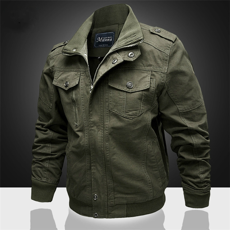 Spring/summer/fall2020 Men's Bomber Jacket Casual Plus Men's Military Jacket Cotton Bomber Jacket Army Men's Cargo Flight Jacket