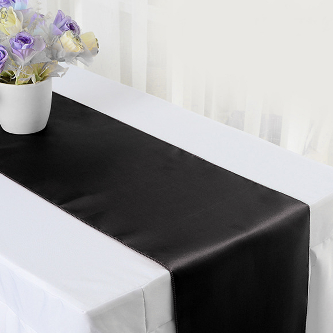 13colors 30*275cm Satin Table Runner For Home Party Wedding Christmas Decoration Engagement/Hotel Banquet/Fesival Decor