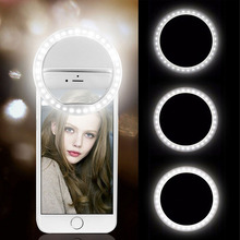 USB Charge Led Selfie Ring Light Mobile Phone Lens LED Selfie Lamp Ring for iPhone for Samsung Xiaomi Phone Selfie Light
