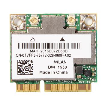 Bezprzewodowy AC1200 BCM94352HMB dwuzakresowy Mini PCI-E na laptopa karta Wifi AW-CE123H DW1550 1200Mbps 802 11ac Bluetooth 4 0 tanie i dobre opinie fenvi 867 mbps Wewnętrzny wireless 1000 m ethernet CE FC 802 11a g 802 11n 32mm Mini pci-express 2 4G i 5G 1200 mbps Gigabit ethernet
