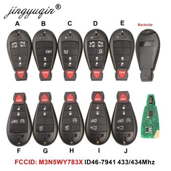 """2 3 4 5 6 7 proszę kliknąć na przycisk """" obudowa inteligentnego pilot z kluczykiem samochodowym dla Chrysler M3N5WY783X IYZ-C01C GQ4-53T 433Mhz dla Chrysler Jeep Grand Cherokee tanie i dobre opinie jingyuqin CN (pochodzenie) for chrysler Jeep Dodge Keychain case for fiat ABS + Metal China Car Key Fob Control replacement"""