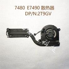 Оригинальный вентилятор для Dell latitude E7480 E7490 радиатор 2T9GV 02T9GV cn-02T9GV
