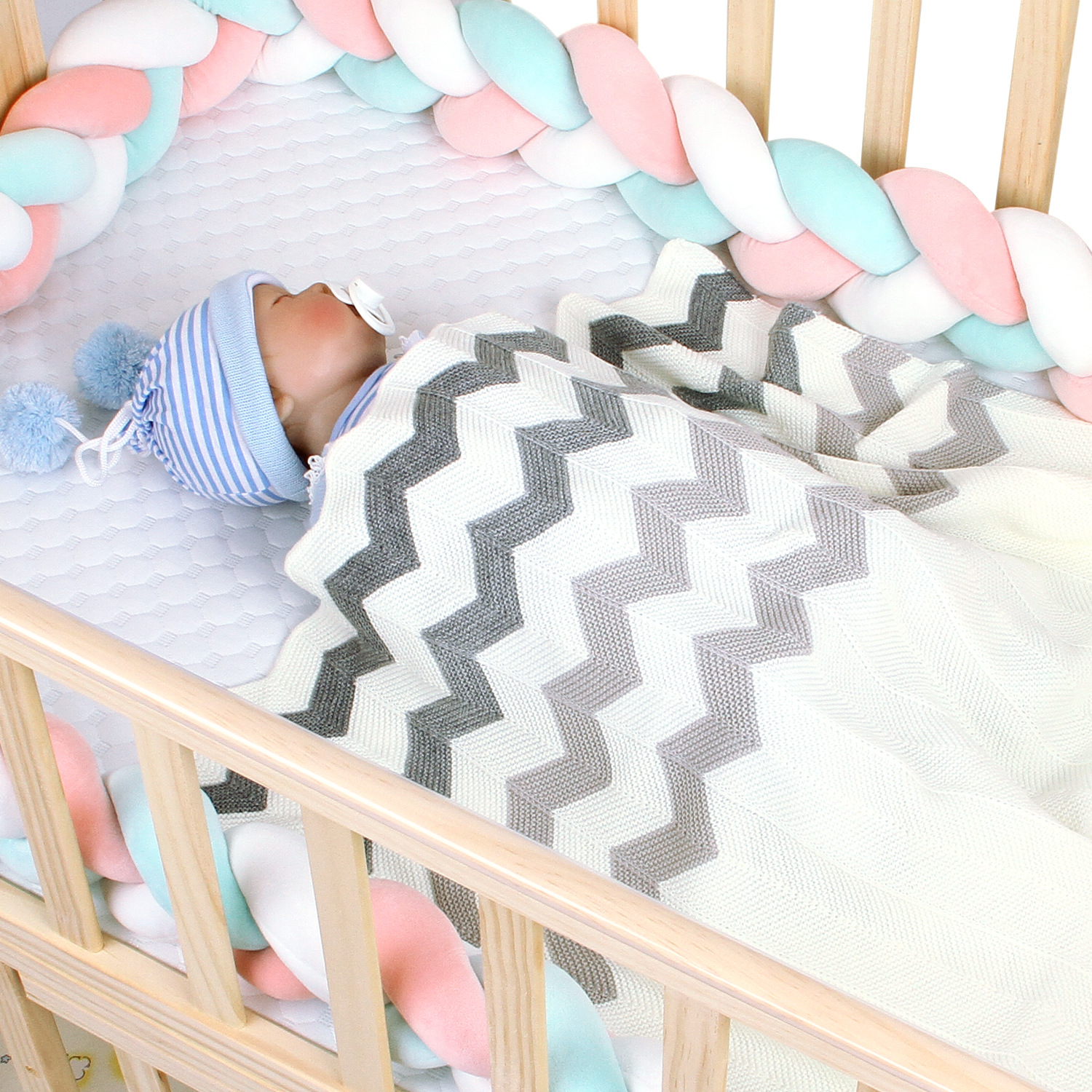 Baby Blanket Newborn Soft Infantil Bebes Swaddle Wrap Bedding Quilts Toddler Kids Stroller Covers Acrylic Knitted Muslin Blanket