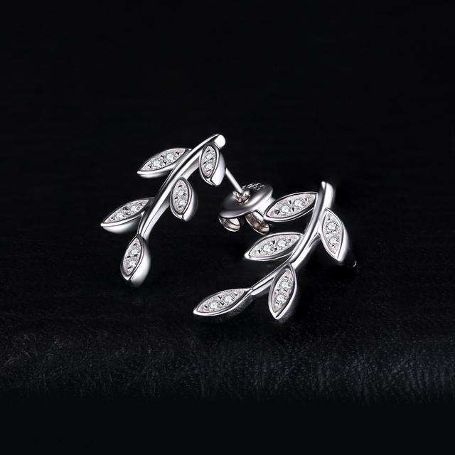 Leaf Drop Stud Earrings
