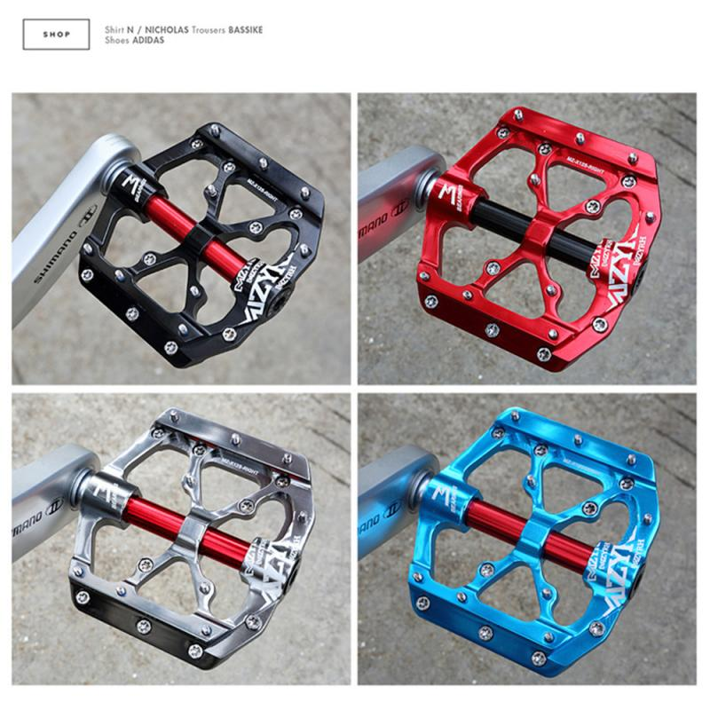4 Bearings Bicycle Pedal Widen Anti-slipaluminum Pedals Ultralight CNC MTB Mountain Bike Pedal Sealed Bearing Pedals Flat Pedal
