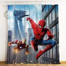 Disney cortina dos desenhos animados spiderman herói expedição blackout cortina personalizado menino presente de aniversário