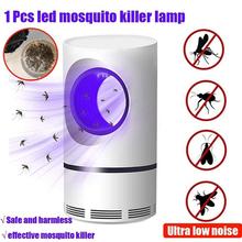 USB elektryczny środek odstraszający komary Killer ultrafioletowe światło LED elektronika fotokatalizator lampa owadobójcza ciche zabijanie odstraszacze szkodników tanie tanio Ultrasonic Pest Repellers 110-240 v 110V-220V Photocatalyst mosquito killing lamp