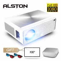 ALSTON Q9 Full HD 1080p Proyector 4k 6500 lúmenes cine Proyector HDMI USB VGA AV con regalo