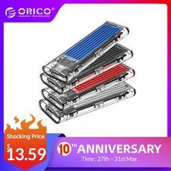 ORICO M2 SSD Case NVME SSD Enclosure M.2 to USB Type C Transparent Hard Drive Enclosure for NVME PCIE NGFF SATA M/B Key SSD Disk