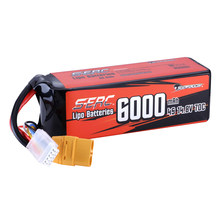 SUNPADOW 4S Lipo Battery 14.8V 6000mAh 70C Soft Pack with XT90 Connector for RC Buggy Truggy Vehicle Car Truck Tank Racing Hobby