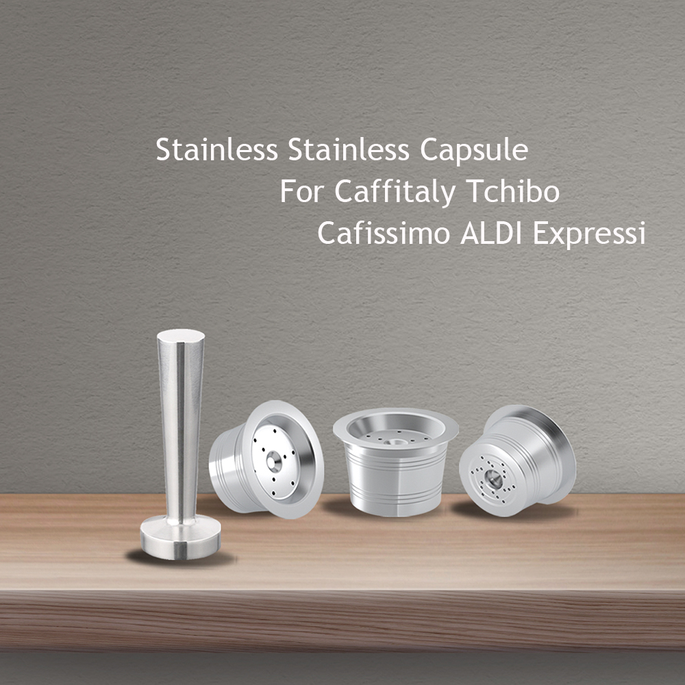 Stainless Steel Refillable Reusable Cafissimo Coffee Capsule Cafeteira Filter For Caffitaly & Tchibo Classic Machine