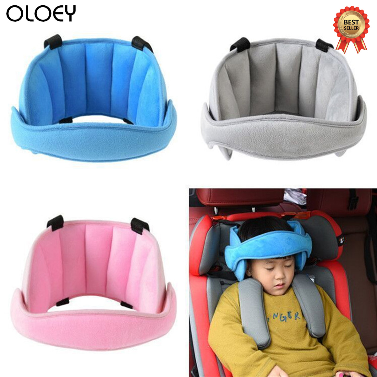 Baby Kids Car Headrest Neck Pillow Support Head Fixed Sleeping Pillows Neck Protection Safety Playpen Headrest Baby Positioner image