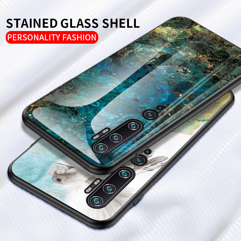 Marble Tempered Glass Case For Xiaomi Mi 9 Pro 5G Mi CC9 Pro Mi Note 10 Soft Silicone Frame Cover For Xiaomi Redmi Note 8T Case