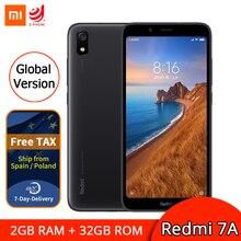Глобальная версия Xiaomi Редми 7А 2 ГБ 32 ГБ мобильный телефон Snapdragon 439 восьмиядерный фейсконтроль 5.45