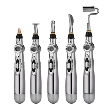 5-in-1 Electronic Therapy Pen Acupuncture Meridian Body Massager Pain Relief Meridian Energy Pen Pain Relief Tools Zen Pen electronic pulse analgesia pain relief pen acupuncture arthritis joint massager