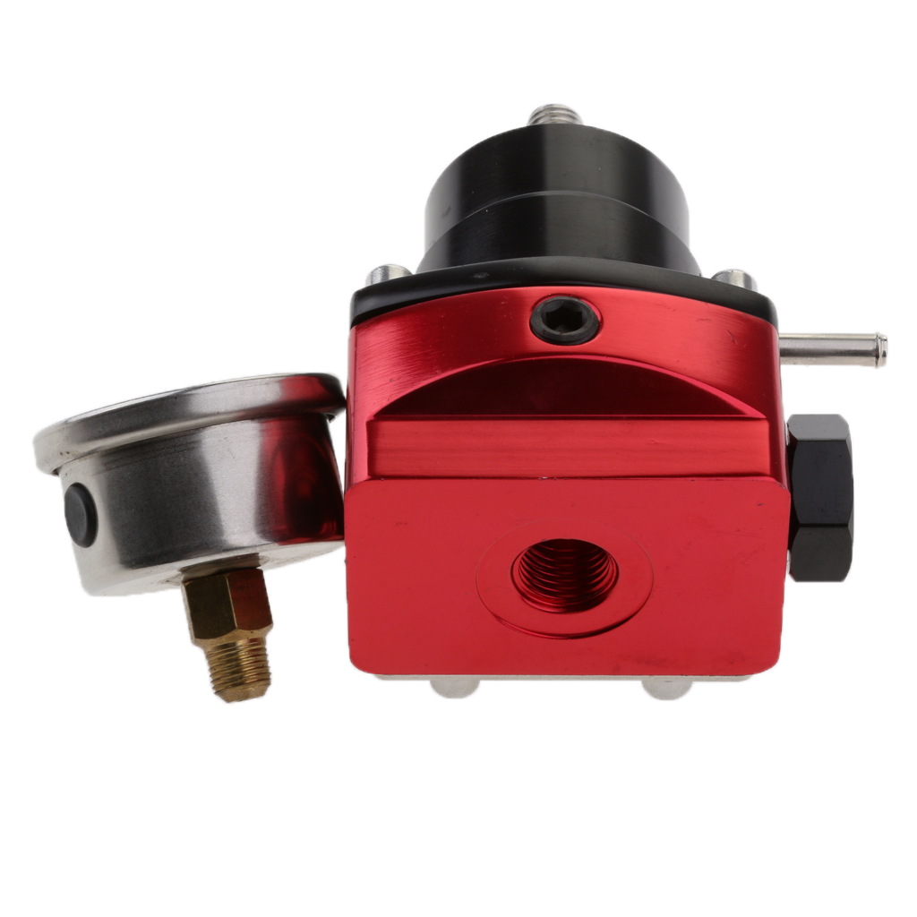 Red Carburettor Oil Fuel Pressure Regulator 160PSI High <font><b>Performance</b></font> image