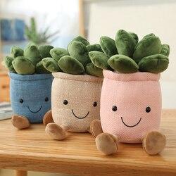 Lebensechte Tulip & Sukkulenten Pflanzen Plüsch Spielzeug Weiche Bücherregal Dekor Puppe Kreative Topf Blumen Kissen für Mädchen Kinder Geschenk