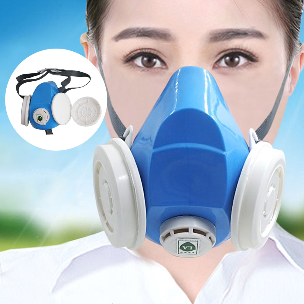 Disposable PM2.5 Filters Mask Pad Half Face Dust-proof Mask Anti Industrial Construction Dust Haze Fog Safety Gas Mask