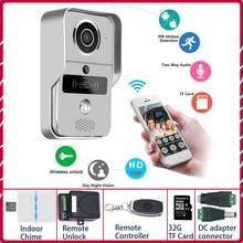 IP فيديو إنترفون 4G فيديو باب الهاتف الدائري جرس الباب واي فاي كاميرا إنذار الأمن اللاسلكي بطاقة SD كاميرا إضافة بطاقة 32GB