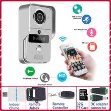 Ipビデオインターホン 4 ビデオドア電話リングドアベルドアベル無線lanカメラアラームワイヤレスsdカードカメラ追加 32 ギガバイトカード