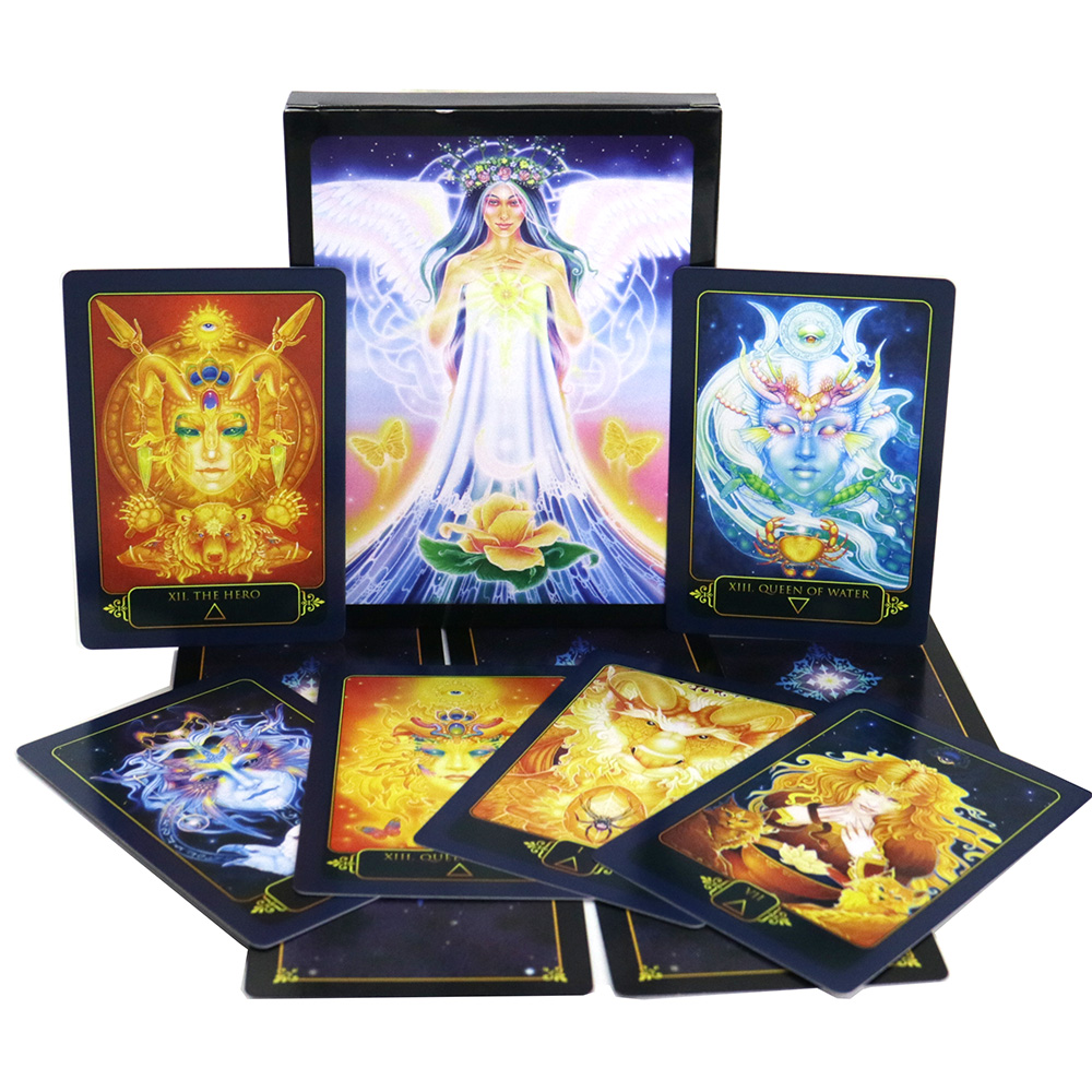 Dream Gaia Tarot Cards Deck, 81 Playing Cards, Fate Guidance Mysterious  Card Game Board Games
