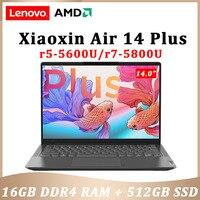lenovo Xiaoxin Air 14 Plus 2021 AMD Ryzen 7 5800U 16GB RAM 512GB SSD WiFi 6 14inch IPS screen computer Windows 11 notebook 1