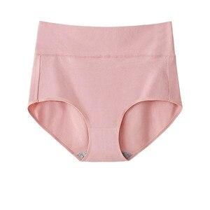 Image 4 - 5 sztuk/zestaw Plus rozmiar majtek bawełniane majtki dla kobiet bielizna wysokiej talii kalesony antybakteryjne bielizna kobiet bliscy M ~ 4XL