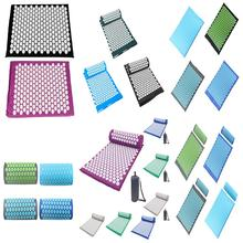Массажная подушка Массажный коврик для йоги Акупрессура снимает стресс боль в спине и теле шип коврик для иглоукалывания с подушкой