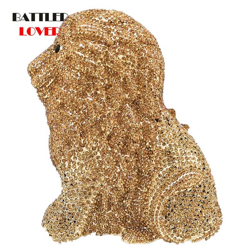 Bags for Women 2020 Diamond Lion Clutch Women Evening Minaudiere Bags Wedding Purses and Handbags Ladies Gala Dinner Crystal Bag