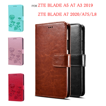 Flip Wallet Case For ZTE Blade A3 A5 A7 2019 Phone Case Wallet Pouch Case For ZTE Blade A7 2020 A7s L8 PU Leather Cover Fundas