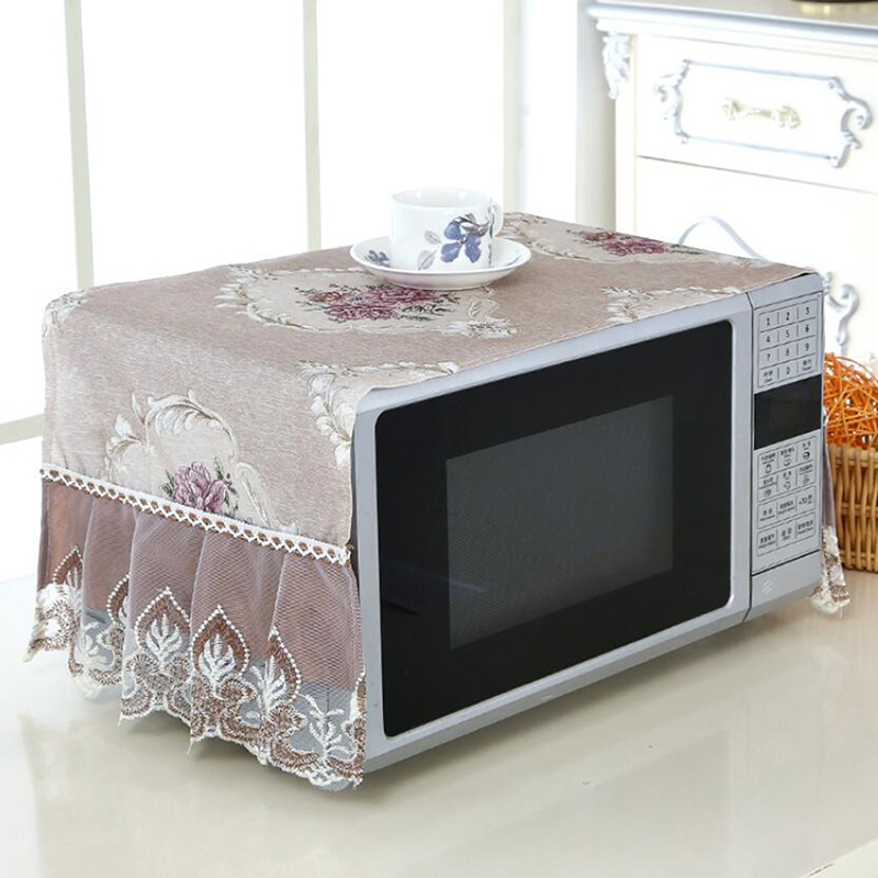Efficient Microwave Oven Cover Cloth Oven Cover Cloth Oil-proof Dust Cover Kitchen Household Storage Cover Towel