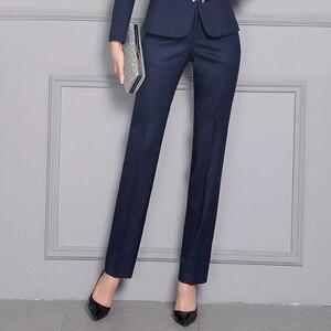 Image 5 - Women Formal Pants 2019 Autumn High Waist Ladies Straight Office Trousers Work wear Big Plus Size S~4XL 5XXXXXL Pantalon Femme